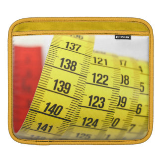 Measuring tape sleeve for iPads