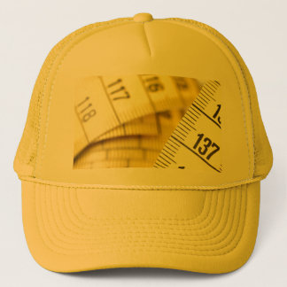 Measuring tape trucker hat