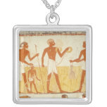 Measuring the land using rope square pendant necklace