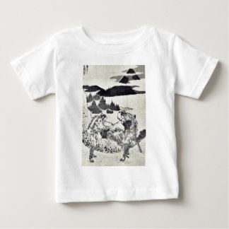 Measuring the shape of Fuji by Katsushika,Hokusai Tee Shirts