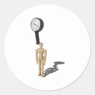 MeasuringStressGauge030811 Etiquetas Redondas