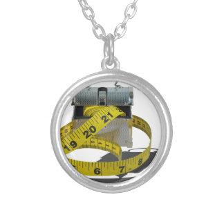 MeasuringTapeLunchBox010415.png Round Pendant Necklace