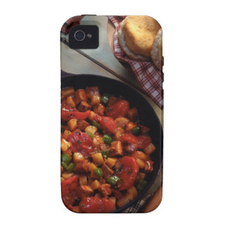 Meat and potato hash with biscuits vibe iPhone 4 cases