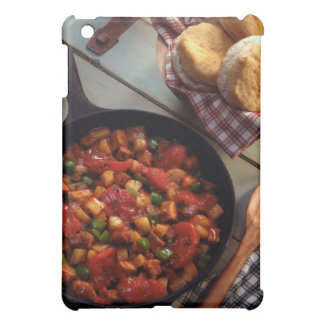 Meat and potato hash with biscuits cover for the iPad mini