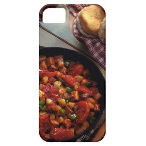Meat and potato hash with biscuits iPhone 5 cover