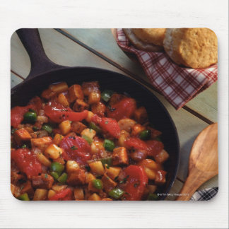 Meat and potato hash with biscuits mouse pad