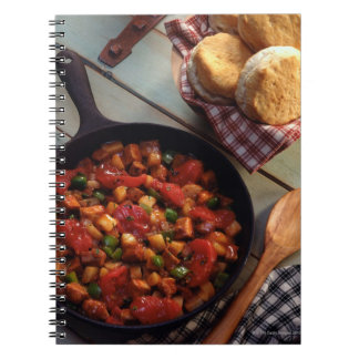 Meat and potato hash with biscuits notebook
