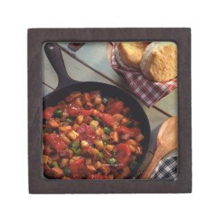 Meat and potato hash with biscuits premium keepsake box