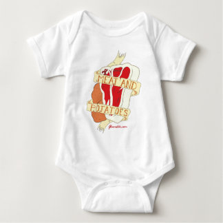 Meat and Potatoes Baby Bodysuit