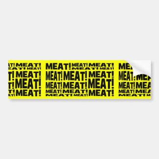 Meat Bumper Sticker