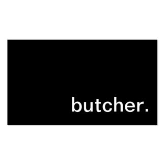 Meat Butcher Business Card