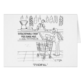 Meat Cartoon 9340 Card