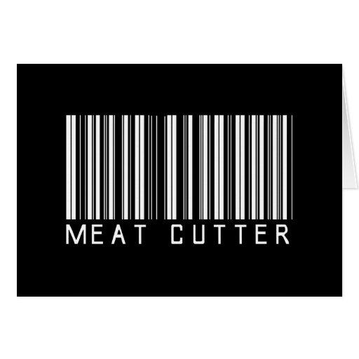 Meat Cutter Bar Code Card