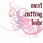 Meat Cutting Babe Photo Cut Out