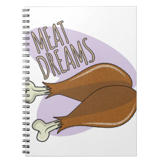 Meat Dreams Spiral Notebook