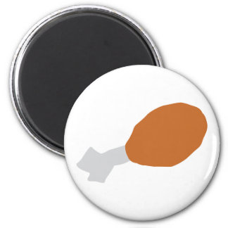 meat drumstick 2 inch round magnet