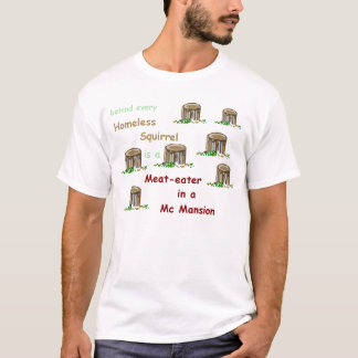 Meat-eater in a McMansion Mens T-shirt