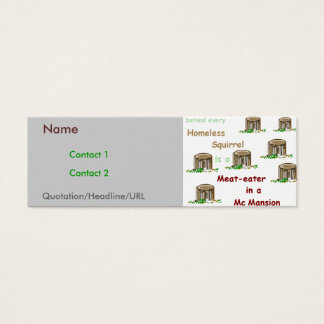 Meat-eaters in McMansions Mini Business Card