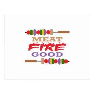 MEAT FIRE GOOD POSTCARD
