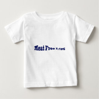Meat Free Lips - Blue Fish Shaped Baby T-Shirt