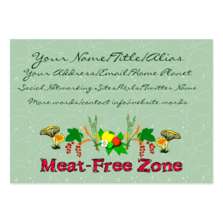 Meat-Free Zone Large Business Cards (Pack Of 100)