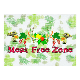 Meat-Free Zone Card