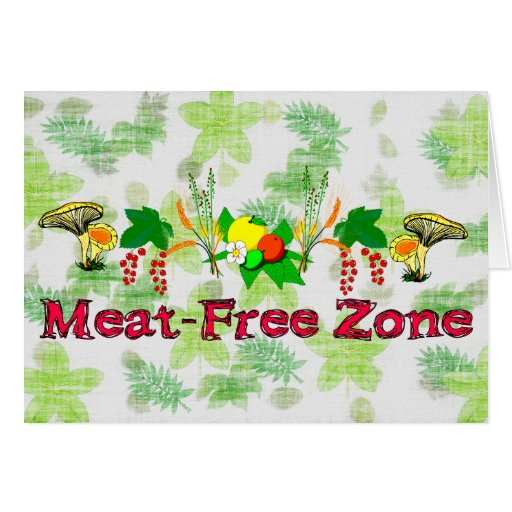 Meat-Free Zone Cards