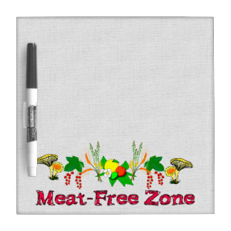 Meat-Free Zone Dry Erase Board