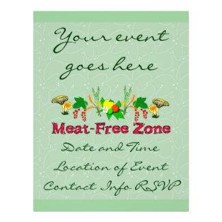 Meat-Free Zone Flyer Design