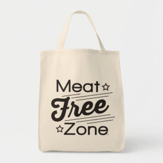 Meat Free Zone Grocery Tote
