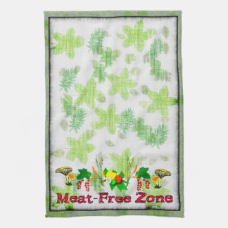 Meat-Free Zone Hand Towel