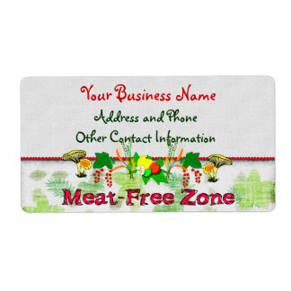 Meat-Free Zone Label