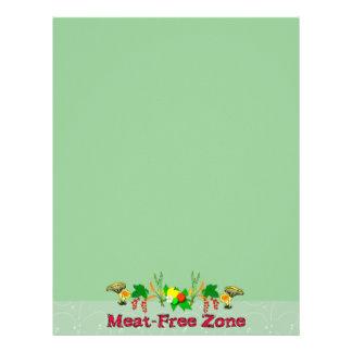 Meat-Free Zone Letterhead Design