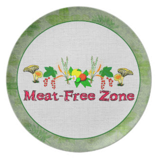 Meat-Free Zone Melamine Plate
