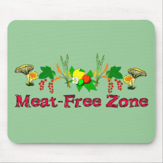 Meat-Free Zone Mouse Pad
