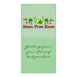 Meat-Free Zone Photo Card