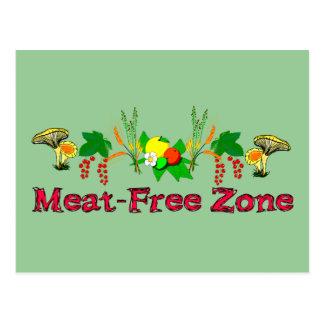 Meat-Free Zone Postcard