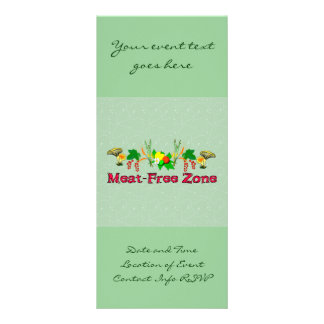 Meat-Free Zone Rack Card