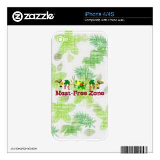 Meat-Free Zone iPhone 4S Skins