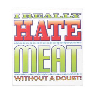 Meat Hate Memo Note Pad