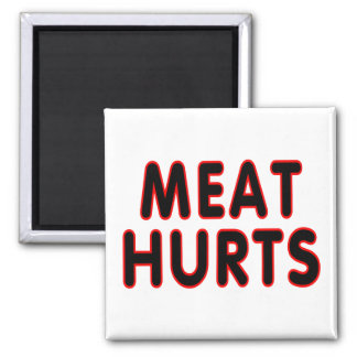 Meat hurts 2 inch square magnet