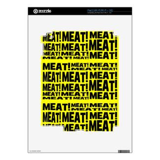 Meat iPad 2 Decals