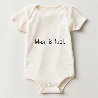 Meat is fuel light baby bodysuit