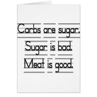 Meat is good card