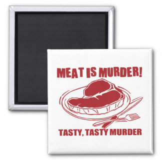 Meat Is Murder 2 Inch Square Magnet