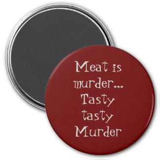 Meat is Murder 3 Inch Round Magnet