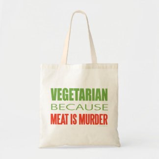 Meat Is Murder - Anti-Meat Budget Tote Bag