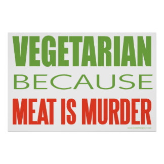 Meat Is Murder - Anti-Meat Poster
