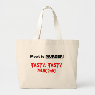 Meat is Murder Canvas Bags