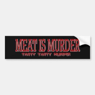 MEAT IS MURDER... BUMPER STICKER